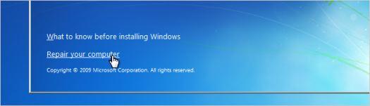 Скидання пароля в Windows 7